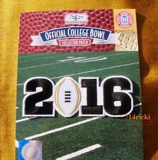 Official 2016 College Football National Championship Game Patch Clemson Alabama