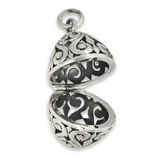 New .925 Sterling Silver Filigree Aromatherapy Essential Oil Diffuser Pendant