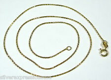 18k Gold Plated 925 Sterling Silver Diamond Cut Snake Chain Necklace 16""