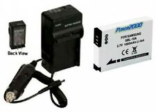 Battery + Charger for Samsung SLB-10A SBL-10A WB710 HMXU100RN HMXU100EN HMX-U100