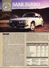1984 SAAB 900 Turbo  Road Test  Original Car Review Print Article J627