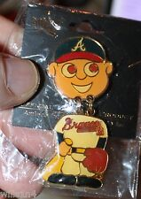 Atlanta Braves vintage Aminco Ball Player Pin new in plastic