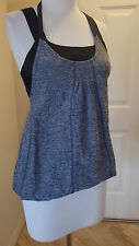 Lululemon Bubble Top Tank Top Sz 4 Womens Black and Gray