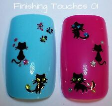 Nail Art Sticker- 3D Cat Decal #159 XF249 Rhinestone Halloween Transfer Children