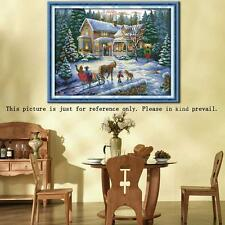 Christmas Scenery DIY Counted Cross Stitch Kits Embroidery Set 14CT 57*44cm 4A0C