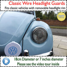 VW Bettle Bug Head Light Lamp Guard Grilles Grill Classic Wire Mesh 68-79 v3