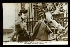 Royalty QUEEN ELIZABETH Salute After Trooping of the Colour 1953 RP PPC