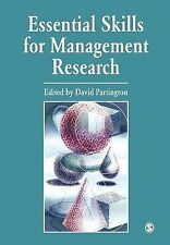 Essential Skills for Management Research Partington, David Very Good Book