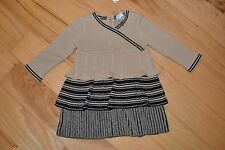 Girl dress Hanna Andersson baby cableknit 70 6-12  NEW NWT twine sweater