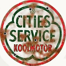 Reproduction  Cities Service Koolmotor Gas Sign