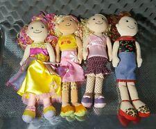 LOT Of 4 Groovy Girls Dolls- Rayannah Nanette Fleurabella Ruby Mae