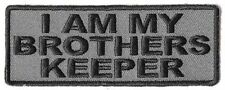 I Am My Brothers Keeper GREY POW Vet MC Club Embroidered Biker Patch PAT-3459