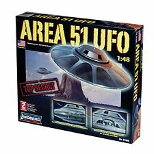 Lindberg Area 51 Ufo Spaceship Flying Saucer Replica Model Kit 1:48 Toy Play Eas