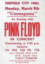 PINK FLOYD REPRO 1970 SHEFFIELD CITY HALL UMMAGUMMA TOUR CONCERT POSTER . NOT CD