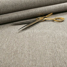 New Quality Textured Basket Weave Hopsack Upholstery Furnishing In Silver Fabric