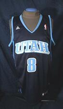 ADIDAS UTAH JAZZ #8 Deron Williams Blue Throw Back Swingman Jersey L Length +2