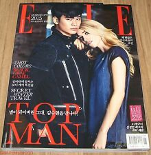 ELLE KIM SOO HYUN SOOHYUN KOREA ISSUE MAGAZINE + BROMIDE 2015 JAN JANUARY TYPE B