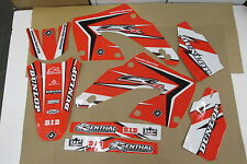 FLU  DESIGNS PTS2 TEAM GRAPHICS HONDA CR125 CR125R CR250 CR250R  2000 2001
