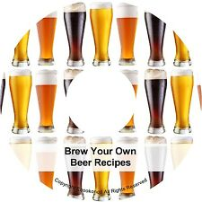 Brew Your Own Beer Recipes Ale Stout Lager & Make Wine & Spirits Books on CD