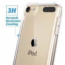 Tempered Glass Cover + Clear Soft Back Gel For Apple iPod Touch 6th & Touch 5