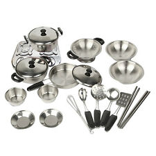 20x Kid Play House Toys Kitchen Utensils Pots Pans Cooking Food Dishes Cookware