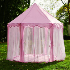 Girls Pink Princess Castle Cute Playhouse Children Kids Play Tent Toy In/Outdoor