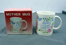 Glass Coffee Mug '' Mother is another word for Love'' Mother's Day Gift w/ Box