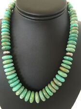 Native American Green Turquoise Sterling Silver Necklace