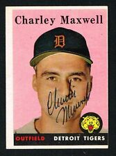 Charley Maxwell #380 signed autograph auto 1958 Topps Baseball Trading Card