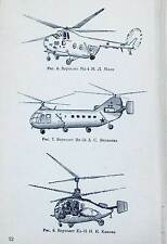 HELICOPTER FLIGHT Russian Army tutorial aircraft Aviation Airplane Book USSR '61