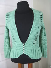FREE PEOPLE Fulfillment-Needed Green Cardigan Sweater S