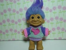 "HEART SWEATER GIRL - 5"" Russ Troll Doll - NEW IN ORIGINAL WRAPPER - Rare"