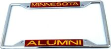 Minnesota Golden Gophers Alumni  Chrome License Plate Frame The Best Quality