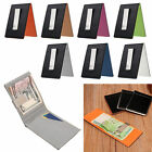 Colors Leather Money Clip Pocket Wallet ID Credit Card Holder Purse Ultra Slim