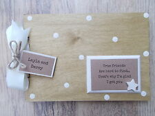 PERSONALISED TRUE FRIENDSHIP WOODEN SCRAPBOOK/PHOTO BOOK /MEMORIES