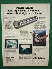 9/1980 PUB EDO WESTERN UTAH 1633 NIGHT SIGHT TV CAMERA NIGHT SURVEILLANCE AD