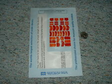 Microscale decals N 60-451 Antiglare panels red orange  C79