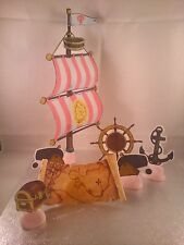 Pirate Ship Sail Set **WAFER** Edible Cake Decoration Set **Pink Set**