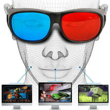 New Red Blue 3D Glasses Frame For Dimensional Anaglyph Movie DVD Game UR