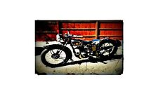 1938 sunbeam Bike Motorcycle A4 Photo Poster