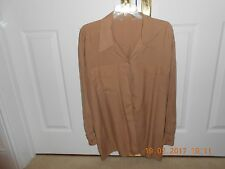 marks and spencers ladies silk blouse, size 14, biscuit colour