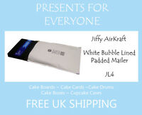 5 x Jiffy Airkraft White Bubble Lined Postal Padded Mailing Bags JL4 G/4