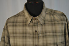 Vintage green check short sleeve shirt size large mod rockabilly country western
