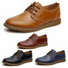 New Men's Casual Oxfords Flats Shoes Wing Tip Leather Lace Up Man Dress Shoes AA