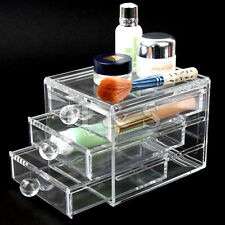 Acrylic Clear Makeup Organiser Cosmetic Jewellery Storage Case Box 3 Drawer ---S