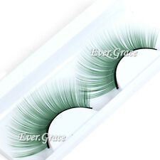 Makeup Feather Eyelashes Green Fancy Eye Lash Extension Long Party Cosplay Party