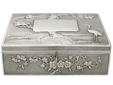 Antique Chinese Export Silver Locking Box - Circa 1890