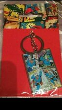 DC Superman Keyring - Metal Comic Strip - DC Comics, Marvel Keyring