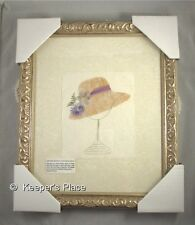 Framed Victorian Retro Style Floral Hat On Stand Wall Decor Handmade Brand New