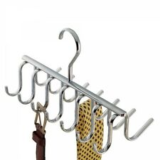 Chrome 14 Hook Belt Tie Scarf Closet Organizer Holder Hanger Rack